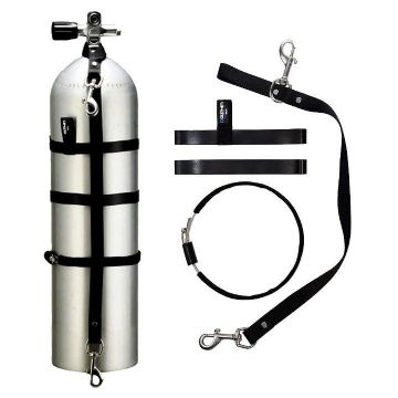 Dive Cylinder STAGE KIT with Adjustable Band and 2 Stainless Clips 5,7,10,12L